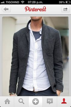 Charcoal grey coat blazer outfit, casual blazer, stylish men, men casual, s Sharp Dressed Man, Well Dressed Men, Casual Wear, Men Casual, Casual Blazer, Casual Menswear, Tweed Blazer, Casual Outfits, Blazer Jeans
