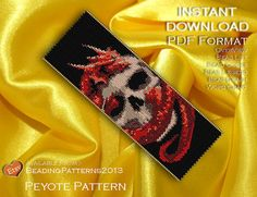 Peyote Pattern  Beading Pattern  Dragon by BeadingPatterns2013