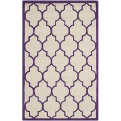 Safavieh Cambridge Ivory/Purple Area Rug & Reviews | Wayfair