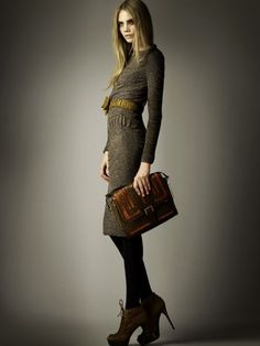 Would love getting up in the morning, if this is what I put on for work.  (Burberry Prorsum, Pre-Fall 2012)