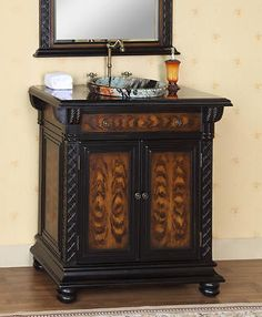 """SUPER SALE! save 10% on this 36"""" Single Sink Bathroom Vanity Cabinet & Hutch with Marble Top from Icafurniture. Originally $749.99, but for limited time only $674.99."""