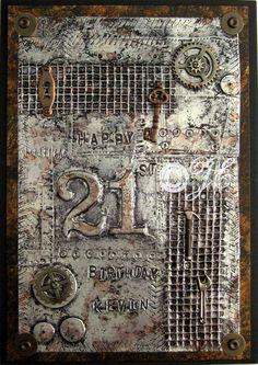 Steampunk or industrial birthday card | cardesque