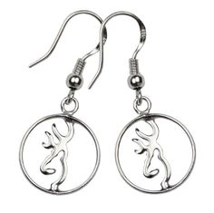 Browning Buckmark Sterling Silver Circle Earrings. I have the necklace need the earrings