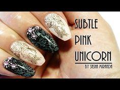 Subtle Pink Unicorn Nail Art