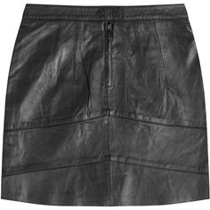 Zadig & Voltaire Leather Mini Skirt ($395) ❤ liked on Polyvore featuring skirts, mini skirts, bottoms, black, zadig & voltaire, black miniskirt, black leather mini skirt, short skirts and black zipper skirt