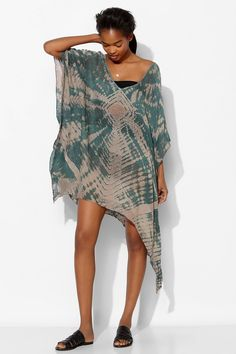 Blue Life V-Neck Cape Tunic - Urban Outfitters
