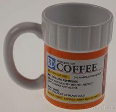 Prescription Bottle Coffee Mug Medical Doctor Nurse Secretary Humorous Office