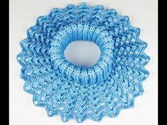 Манишка Ажурная крючком - 2 часть - crochet lace dickey - YouTube Crochet Lace Edging, Knit Or Crochet, Crochet Scarves, Crochet Shawl, Crochet Clothes, Filet Crochet, Crochet Girls, Crochet Baby Hats, Crochet Designs