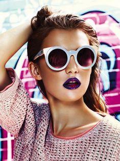 Sunnies with matching lipstick. Arena International UK
