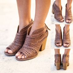 SO FAB! Our NEW cut out booties are too pretty! Make sure you get yourself a pair! They are perf for the upcoming spring season! Shop at http://savedbythedress.com