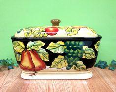Toast Jar, bread box tuscany fruit Decor $26.91