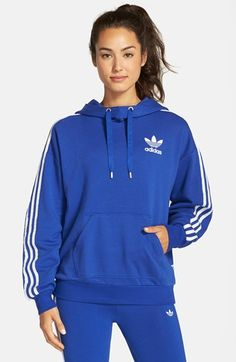 adidas Originals 3-Stripes Pullover Hoodie available at #Nordstrom