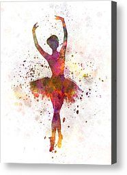 Woman Ballerina Ballet Dancer Dancing Canvas Print by Pablo Romero