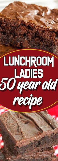 Desserts - Lunchroom Ladies 50 year old recipe 13 Desserts, Delicious Desserts, Yummy Food, Brownie Recipes, Cookie Recipes, Dessert Recipes, Dinner Recipes, Breakfast Recipes, Snack Recipes