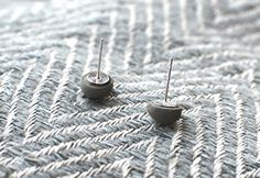 Little Concrete Dome Earrings Everyday by RaineDesignConcrete, $14.00