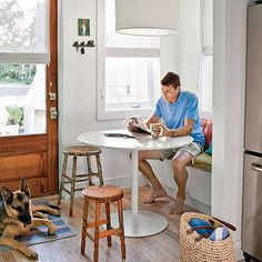 Breakfast Nook - Coastal Prefabricated Home - Southern Living