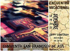 Gente de Durango y Monterrey: compartamos esta invitación para chavos con inquietud por la vida religiosa. Paz y bien