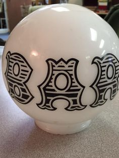 """This vintage milk glass """"Bar"""" lamp globe has sold elsewhere for $30-$40 and… Glass Bar, Milk Glass, Primitive Antiques, Antique Art, Really Cool Stuff, Globe, Shapes, Vintage, Balloon"""