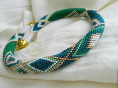 """Купить Жгут """"Ельфийский"""" - жгут из бисера, украшение из бисера, 8 марта, подарок, украшение"""
