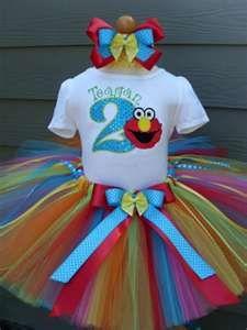 Personalized Elmo Sesame Street Birthday Tutu Outfits For Girls Birthday Party Outfits, Elmo Birthday, Rainbow Birthday, 2nd Birthday Parties, Girl Birthday, Birthday Ideas, Rainbow Tutu, Sesame Street Party, Sesame Street Birthday