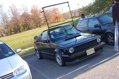 VW cabriolet Roof Rack | 1992 VW Cabriolet Triple Black Right Hand Drive $6500 FIRM.