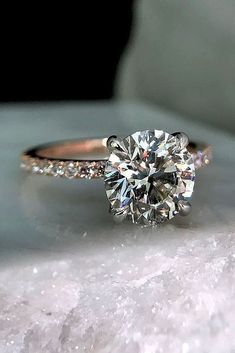 A gemstone solitaire may be the essential diamond engagement ring. Although other diamond engagement ring settings fall and rise in recognition, a solitaire ring is really a classic with constant, … Wedding Rings Simple, Custom Wedding Rings, Beautiful Wedding Rings, Wedding Rings Solitaire, Round Cut Engagement Rings, Beautiful Engagement Rings, Bridal Rings, Vintage Engagement Rings, Wedding Jewelry