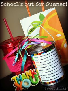 Very cute teacher gift and teacher to child gifts need to remember for end of year class activities.