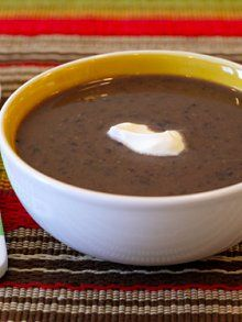 Crock Pot Black Bean Soup -looks easy and if I added some vegetables it would be a really healthy full meal.