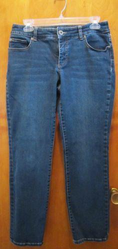 CHICOS So Slimming Denim Jeans SIZE 0 SHORT XS 4 Dark Wash SKINNY SLIM #Chicos #SlimSkinny