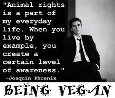 Joaquin Phoenix. #activist #vegan #changemakers