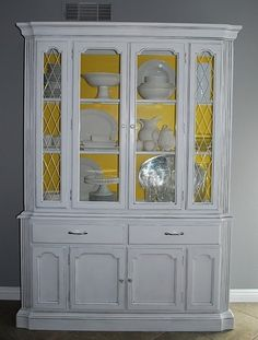 Love the idea of buying an old hutch from goodwill and doing this with it.