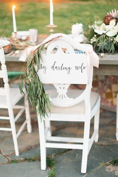 Lovely bride and groom chairs