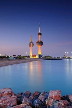 Kuwait Tower- They have hotels, companies in it & its known as- Father,Mother & Son according to the size. People Of The World, The Real World, Our World, Most Beautiful Images, Beautiful Places, Places Around The World, Around The Worlds, Middle East Destinations, World Religions