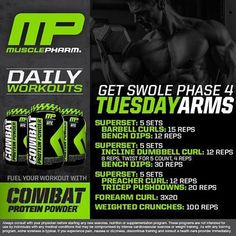 Get Swole Arms Workout
