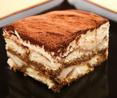 Tiramisu Recipe ~ Easy Dessert Recipes, minus the alcohol :) Köstliche Desserts, Delicious Desserts, Dessert Recipes, Yummy Food, Tasty, Italian Desserts, Health Desserts, Plated Desserts, Italian Recipes