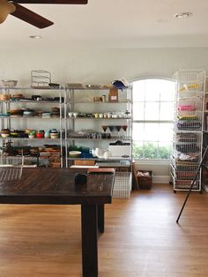 This is a Food Blogger's dream office.  Check out @Jaden Hair's fab. photo studio!