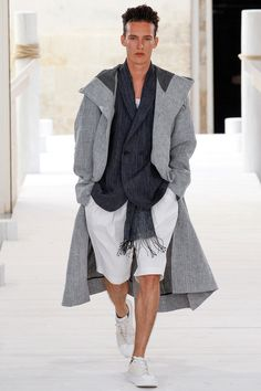 TREND: Luxe loose. Years of slim cuts are giving way to looser -- but not sloppy -- silhouettes, a perpetual trademark of Issey Miyake's. (Pictured: Issey Miyake | Spring 2015 Menswear)