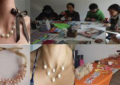 Aprende hacer collar de perlas Handmade Crafts, Outfits, Pants Pattern, Blouse Patterns, Make Shorts