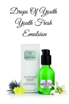 Buy Drops Of Youth Youth Fresh EmulsionFace, Sun Protection, Face With an infusion of thyme and buddleia extracts and broad spectrum coverage using UVA and UVB filters, we've created an effective but ultra-light daily emulsion to help protec Body Shop At Home, The Body Shop, Broad Spectrum, Moisturiser, Your Skin, Tired, Filters, Youth, Drop