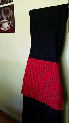 Mother/daughter fun Red/Black polka dot aprons 1 Mothers apron is plain square apron 2 little girls apron with pleat Cotton Fabric 1 set available ( 1 adult apron, 2 small aprons)