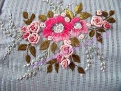 """embroidery detail on my """"Infinity"""" cushion (design Inspirations magazine) pinned from my blog """"my stitching and other journeys"""" http://pleasureinstitching.blogspot.co.uk/"""
