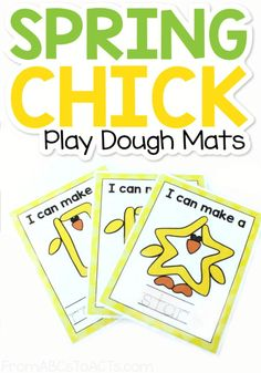 Celebrate Spring while working on shapes and fine motor skills at the same time with these printable spring shape chick play dough mats! #FromABCsToACTs Outdoor Activities For Kids, Spring Activities, Fun Crafts For Kids, Preschool Activities, Learning Shapes, Educational Crafts, Learning Through Play, Worksheets For Kids, Elementary Schools