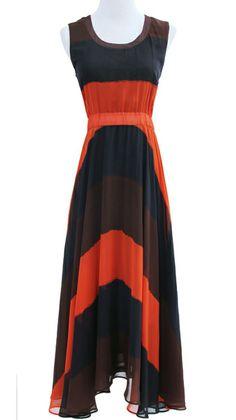 Red Sleeveless Bandeau Full-Length Dress
