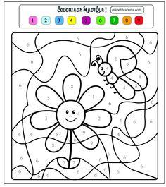 Dessin en couleurs à imprimer : Chiffres et formes - Coloriages magiques numéro 421199