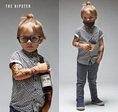 LADYLAND TERRORS OF LONDON - Kids halloween costumes - The Hipster... argh! www.thisisladyland.com Photographer: Dee Ramadan Art Director: Emma Scott-Child