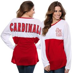 St. Louis Cardinals Women's White/Red Comeback Long Sleeve T-Shirt #cardinals #mlb #stlouis