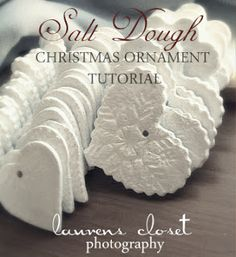 Salt Dough Christmas Ornaments.  I love the texture of these.  So smart!