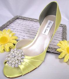Yellow Pearl Shoes