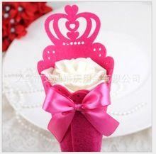 Commercio all'ingrosso 200 pz fiore della rosa coni holder bowknot gelato  Diy contenitore di caramella scatola regalo di nozze favori di nozze tabella decor  Partito(China (Mainland))