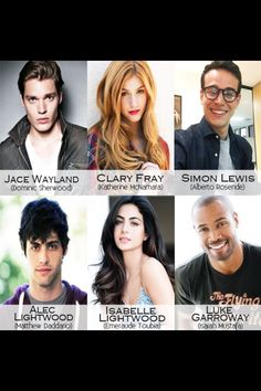 Cast shadowhunters tv show. Jace (Dominic Sherwood- Vampire Academy and Style Video) Clery (Katherine McNamara- Scorch trials), Simon (Alberto Rosende), Alec (Matt Daddario- Alex Daddario's (from Percy Jackson) brother), Isabelle (Emeraude), Luke (Isiah - the Old Spice ad so funny) Shadowhunters Clary And Jace, Clary Und Jace, Alec And Jace, Shadowhunters Tv Series, Shadowhunters The Mortal Instruments, Cassie Clare, Dominic Sherwood, Cassandra Clare Books, Jace Wayland